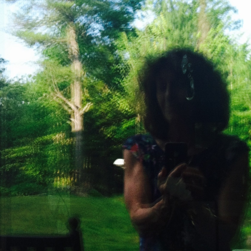 Selfie in a window