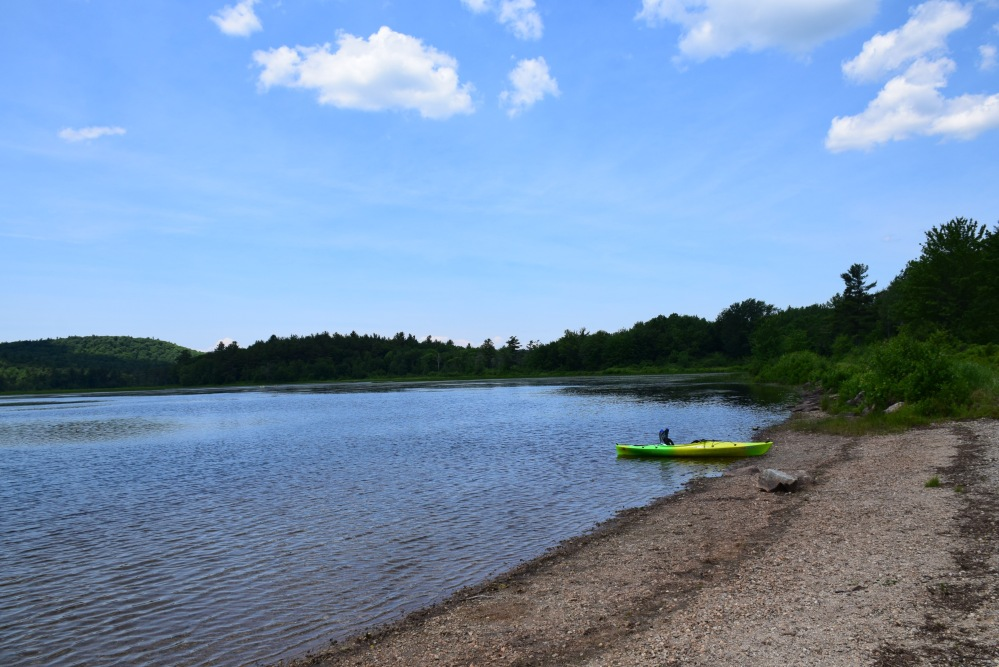 Kayak on McDowell Lake