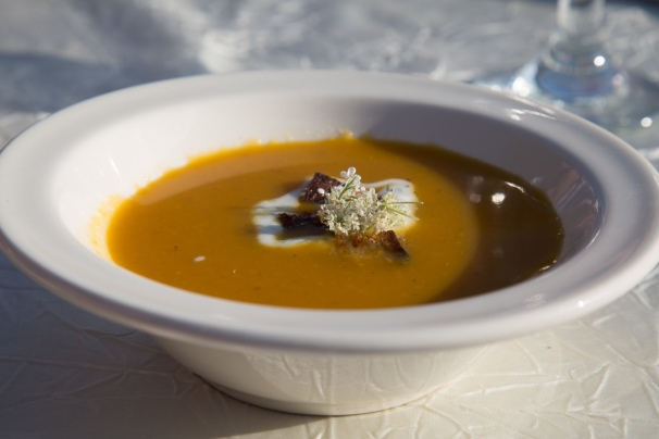Charred & Chilled Carrot Soup